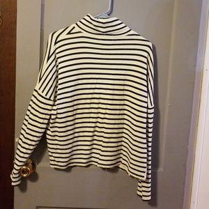 Madewell Tops - Madewell large striped turtleneck